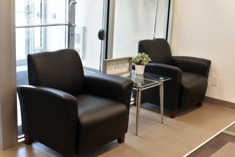 Comfy Chairs in the EYE For Business Reception Area