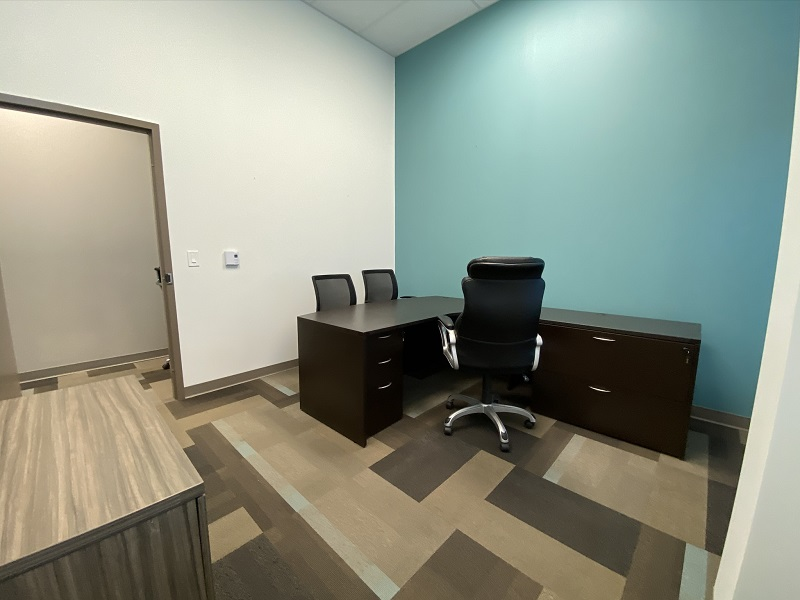 Desk View of Office 21 in the EYE For Business Center